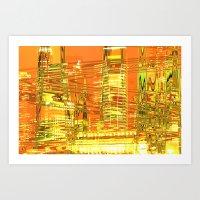 A Waved Skyscraper Art Print