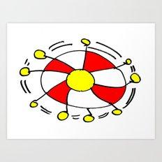 The wheel of time Art Print