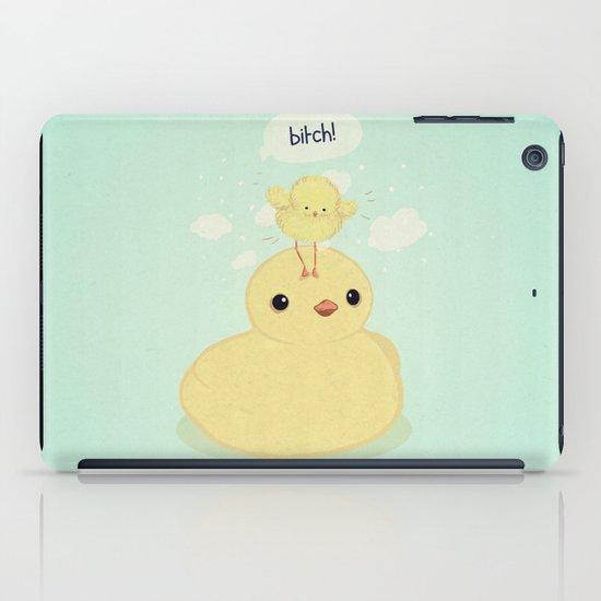 the dark side of fluff iPad Case