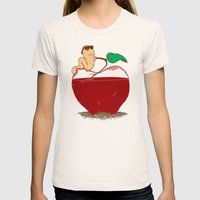 Apple Juice Womens Fitted Tee Natural SMALL