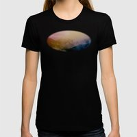 Foggy mountains Womens Fitted Tee Black SMALL