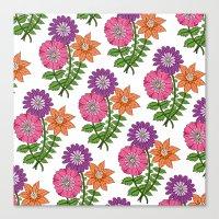 Bouquet Pattern Canvas Print