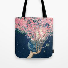 Love Makes The Earth Bloom Tote Bag