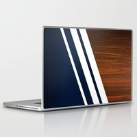 minimalist Laptop & iPad Skins featuring Wooden Navy by Nicklas Gustafsson