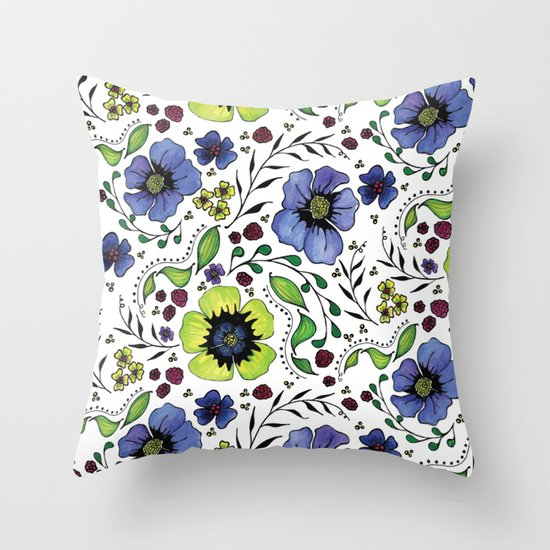 April Truly Throw Pillow