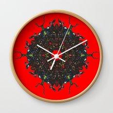 red stars Wall Clock