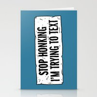 Stop Honking Stationery Cards