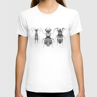 Entomologic Bones Womens Fitted Tee White SMALL
