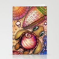 Basking Baby Sea Shell T… Stationery Cards