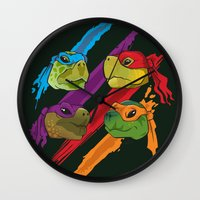 Turtle Heads Wall Clock