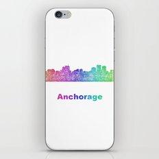 Rainbow Anchorage skyline iPhone & iPod Skin