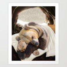 Sweet dreams, Mr Bear Art Print