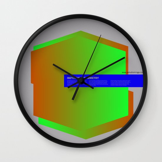 Impossible Symmetry - Ex Wall Clock