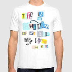 Rhythm  Mens Fitted Tee White SMALL