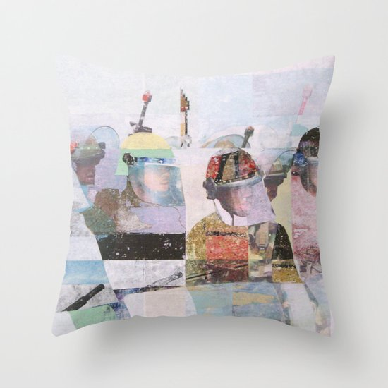 Front Line Throw Pillow