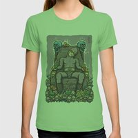 THE GHOST WHO SNACKS Womens Fitted Tee Grass SMALL