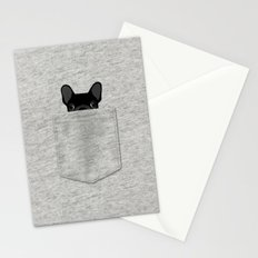 Pocket French Bulldog - Black Stationery Cards