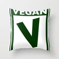 Rated V For Vegan Throw Pillow