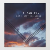I Want His Wings Canvas Print