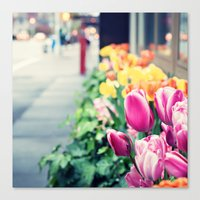 Upper East Side Tulips Canvas Print