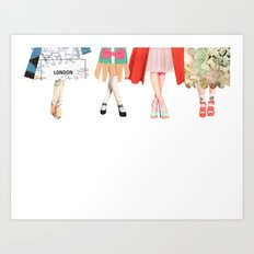 Legs and heeels Art Print