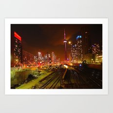 Down Town Toronto (colour) Art Print