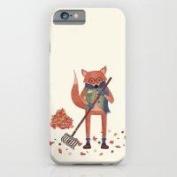 iPhone & iPod Case featuring Ferdinand the Fall Fox by Robert Scheribel