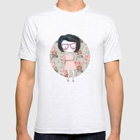 Nerdy Girl Mens Fitted Tee Ash Grey SMALL
