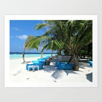 Maldivian lounge Art Print