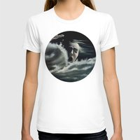 Man overboard Womens Fitted Tee White SMALL