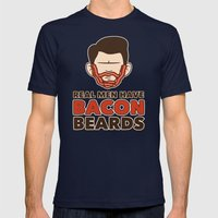 Bacon Beard (men's version) Mens Fitted Tee Navy SMALL