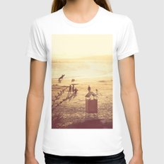 La Barra Sunset Womens Fitted Tee White SMALL
