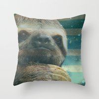Ragin' Like Sloth!  Throw Pillow
