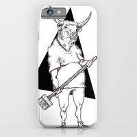 iPhone & iPod Case featuring Bull by Hopler Art