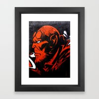 Hell Boy Framed Art Print
