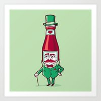 Sir Fancy Ketchup Art Print