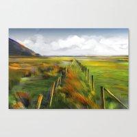 Achill Island Ireland / landscape, painting Canvas Print