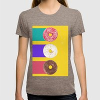 Donuts Womens Fitted Tee Tri-Coffee SMALL