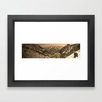 The View Framed Art Print