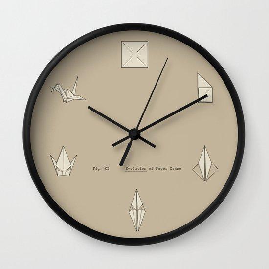 Evolution of Paper Crane Wall Clock