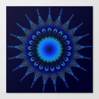 Blue Kaleidoscope Fracta… Canvas Print