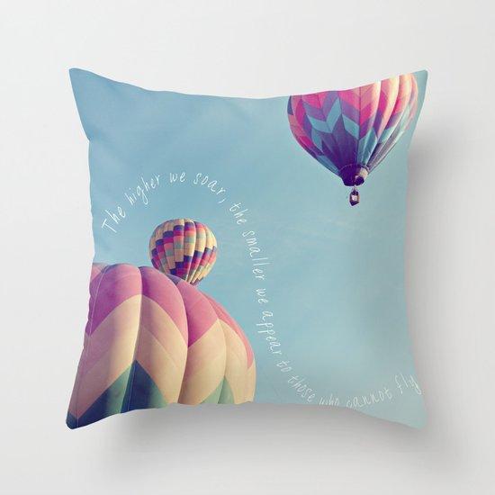 the higher we soar Throw Pillow