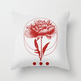 Throw Pillow - Inked III (Red) - The White Deer