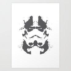 Stormtrooper Rorschach Art Print