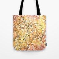 Orange Painterly Floral … Tote Bag