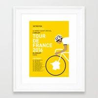 MY TOUR DE FRANCE MINIMAL POSTER 2016 Framed Art Print