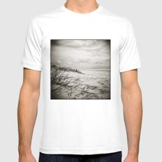 { sand, surf, sun } Mens Fitted Tee SMALL White
