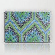 Blue And Green Quilt Laptop & iPad Skin