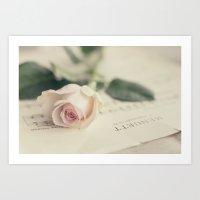 Menuett (vintage rose) Art Print