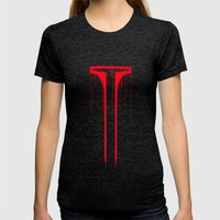 Assassin  Womens Fitted Tee Tri-Black SMALL